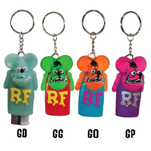 Rat Fink Lighter Cap Key Ring [ RAF253G ]
