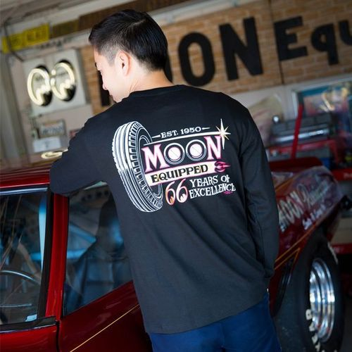 MOON Equipped 66years Long Sleeve T-Shirt [ MQTL126BK ]