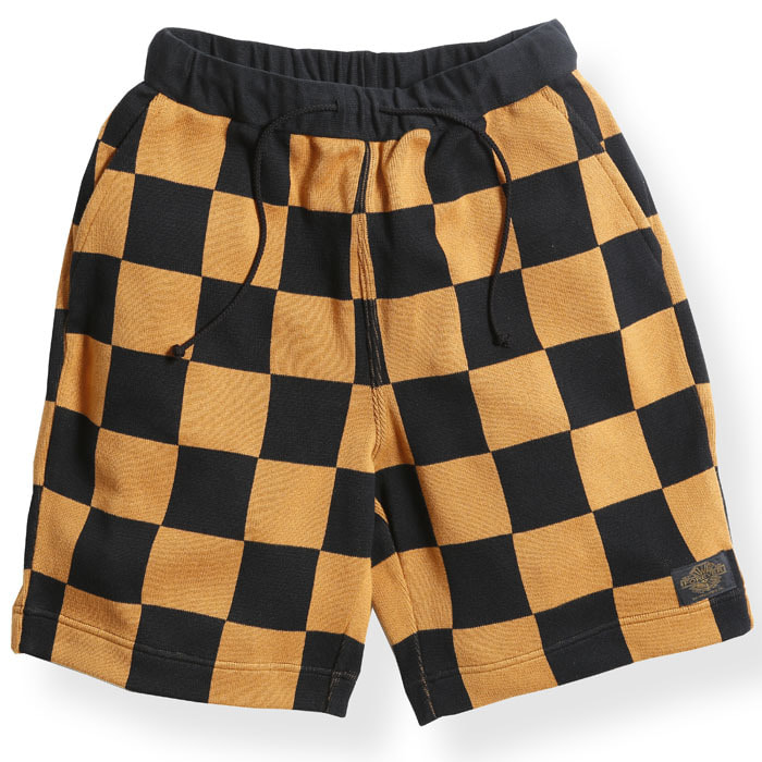 CHECKER SHORT PANTS (NGT KNIT)