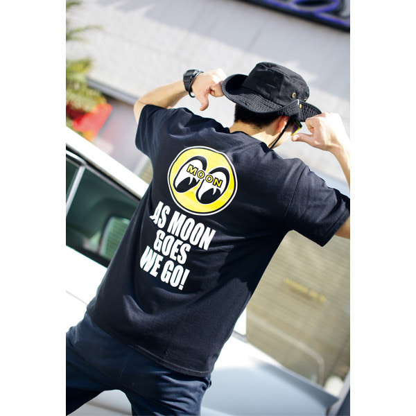 As MOON Goes We Go-T-shirt [ TM661BK ]