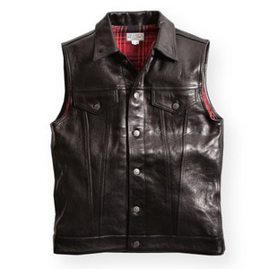 DEAN VEST LEATHER BLK