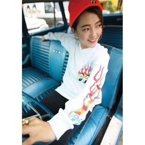 Flamin 'MOONEYES Long Sleeve T-Shirt [ TML724 ]