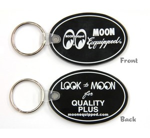 MOON Equipped Oval Rubber Key Ring [ MKR119BK ]