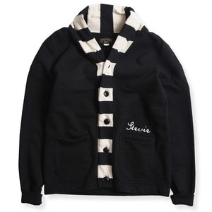 HEAVY WEIGHT CARDIGAN (2TONE : CHK X BLACK)